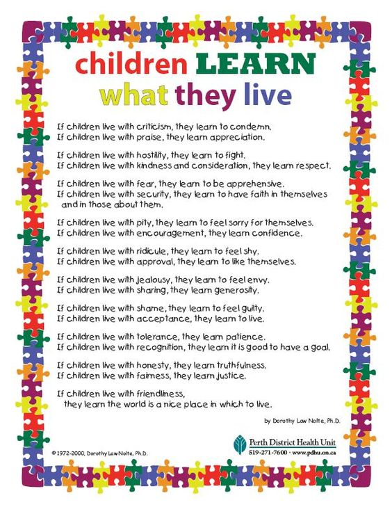 Children Learn What They Live - A Poem