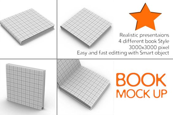 Check out 4 Book Mock Up by akropol  on Creative Market