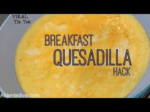 Breakfast Quesadilla Hack Viral Tik Tok Youtube Food Hacks Breakfast Breakfast Quesadilla Food Hacks Healthy