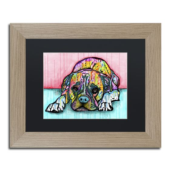 Dean Russo 'Lying Boxer' Matted Framed Art