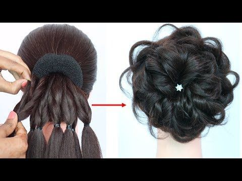 Messy Bun Trick New Hairstyle Hairstyle For Gown Hairstyles For Girls Prom Hairstyles Youtube Hair Styles Hairstyles For Gowns Girl Hairstyles