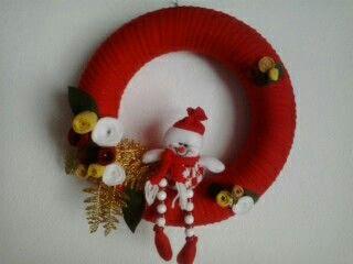 Guirlanda boneco de neve