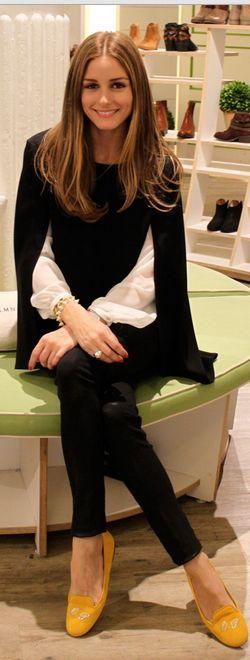 Olivia Palermo: Shirt – Zara  Sweater – Topshop  Jeans – Paige Denim  Shoes – SchoShoes Milano