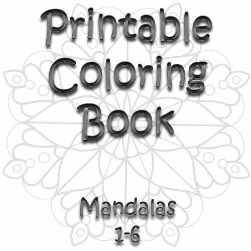 Mandala Printable Coloring Book Six Digital Adult Or Childrens Color Pages ZenDoodle Zen Doodle