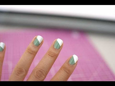 ▶ How to put nail striping tape on with your left hand - YouTube