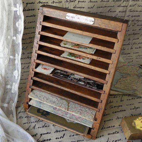 1880-1890年代、アンティーク木製レターシェルフ 送料無料
