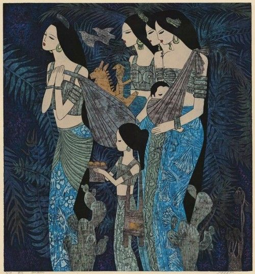 Chen Yongle is a leading artist of what is today called the Yunnan Art School. He is among the few contemporary Chinese printmakers who can claim a series of international exhibitions. The artist works in the technique of reduction woodblock prints - printed with thick oil-based colors artemisdreaming.tumbler.com