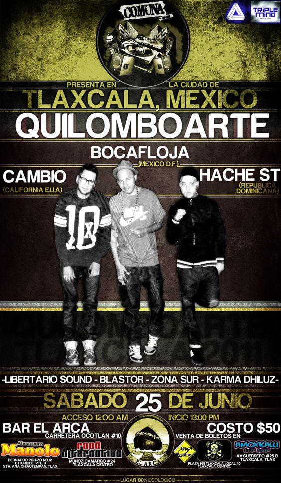 """Enveto """"QuilomboArte en Tlaxcala"""" 21 de Junio 2012."""
