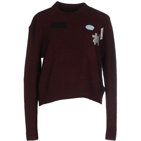 American Retro Jumper (£89) ❤ liked on Polyvore featuring tops, sweaters, maroon, american retro, brown sweater, long sleeve sweater, jumpers sweaters and brown tops