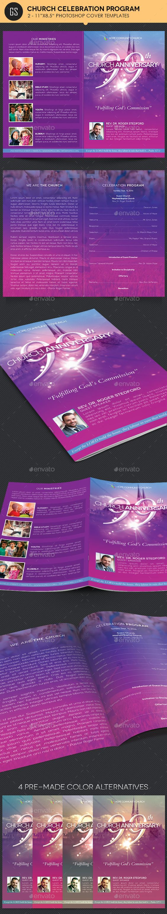 church celebration program template program template templates and celebrations. Black Bedroom Furniture Sets. Home Design Ideas