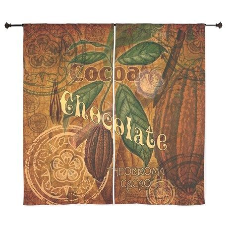 """Chocolate Collage 60"""" Curtains on CafePress.com"""