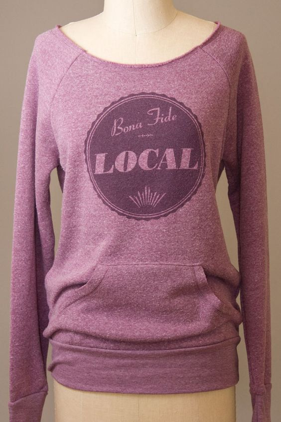 SPECIAL ONE-DAY SALE!  Right now thru midnight (on December 17th) you get 40% off this item when you enter code PINTEREST at checkout!  This hand-printed sweatshirt becomes just $27, and you will receive it in time Christmas if you live in the US.  Hooray!  (Sale is for the violet color only.)