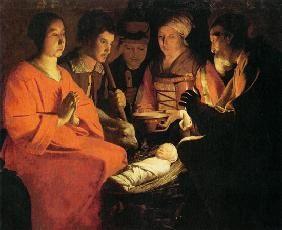 Georges de La Tour - Adoration of the Shepherds