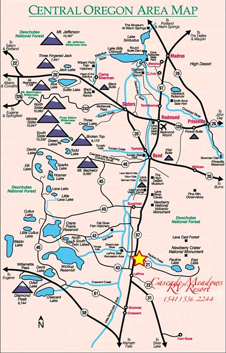 Central Oregon Map                                                                                                                                                      More