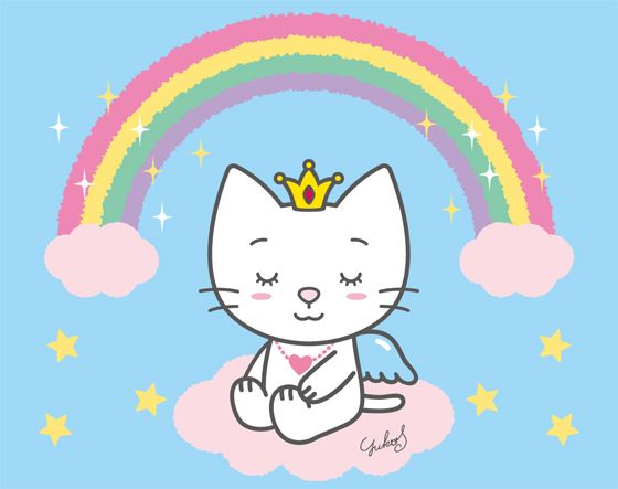 Image result for rainbow angel cat