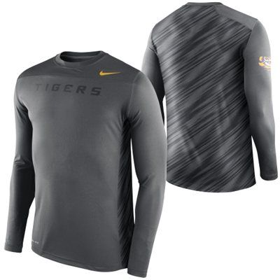 LSU Tigers Nike Speed Long Sleeve Performance T-Shirt – Anthracite