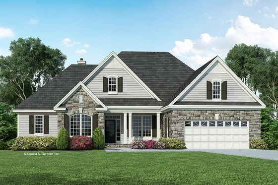 Ranch Style House Plan 4 Beds 3 Baths 1975 Sq Ft Plan 929 881 Craftsman House Plans Ranch Style House Plans Brick House Plans