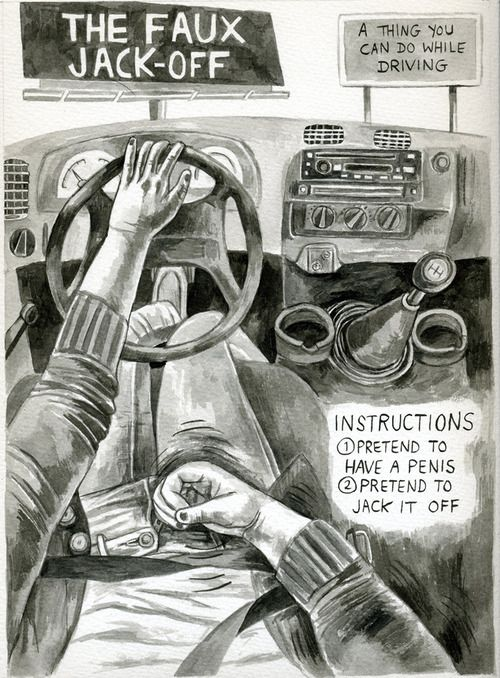 Jack off while driving