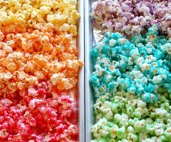 Rainbow Candy Popcorn Using JellO. Make This For Holidays