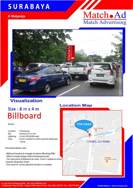Surabaya Timur, Jl. Mulyorejo (view Jl. IR. Soekarno) - Billboard 8x4