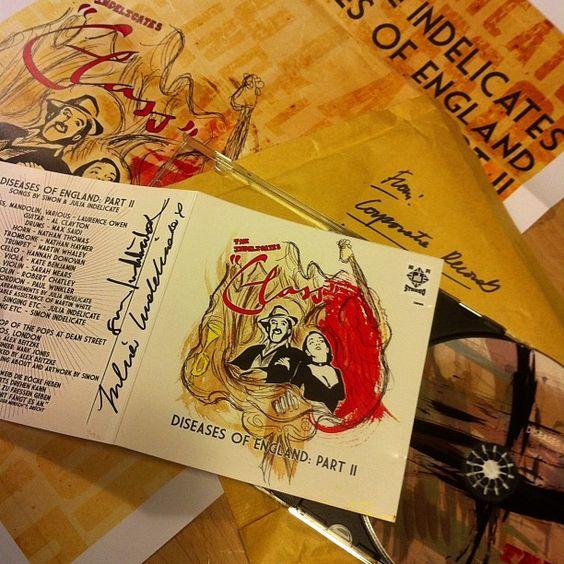 "@lomovogt's photo: ""Erster von drei Teilen ist da! ""Diseases of England"", das neue Album der Indelicates. Handsigniert. :)"" Hier bestellen: http://corporaterecords.co.uk/artistnetwork/indelicatesshop/diseases-of-england/"