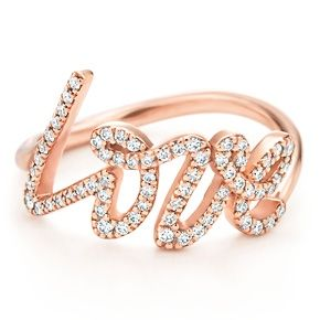 ♥ Tiffany & Co. Paloma Picasso® Love ring $2700 - 18k rose gold with round brilliant diamonds