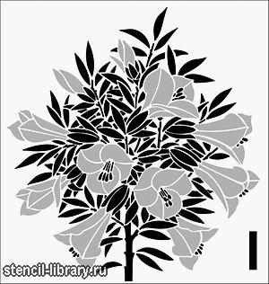 Ороксилум • Трафарет для декора Ороксилум • для рисования, росписи и декора