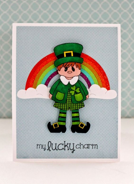 Pink and Main Lucky Charm Clear Photo Polymer Stamps
