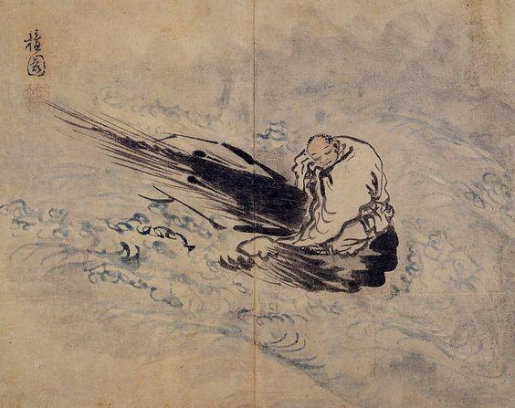 (Korea) 승하좌수도해 by Danwon Kim Hong do (1745- 1806). ca 18th century CE. color on paper. Seonmun University Museum of Korea. 33.1x41cm.