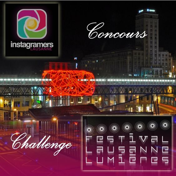 The Lausanne Instragramers team organizes a photo challenge during the Lausanne Lumières 2013 Festival. Everyone can participate. On the Instagram app, publish photo shots taken during the festival, between November 22nd and December 31st, 2013.  Your pictures can be taken either with your smartphone or with your dedicated camera. All formats and edits are allowed. Astonish us and be creative!  Rules in @igersLausanne #Instagram Account