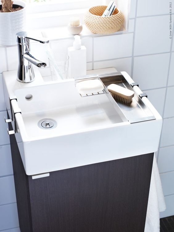 Tiny Ikea Sink For Half Bath Let 39 S Build A House Pinterest Pedestal Half Baths And Deco