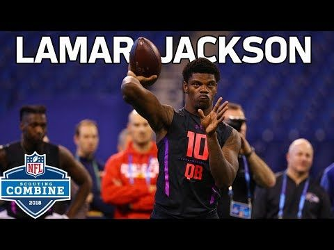 Every Lamar Jackson Throw During Workout Nfl Combine Highlights Http Fitnesstoday Life Every Lamar Jackson Throw D Lamar Jackson Nfl Nfl Scouting Combine