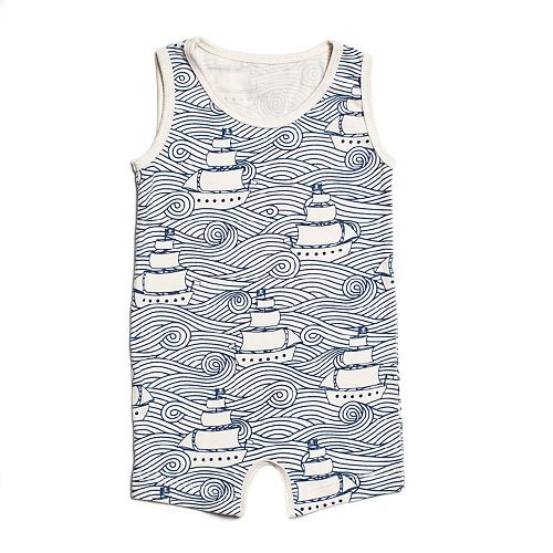 Summer Romper - High Seas Navy at Winter Water Factory. Made in USA.