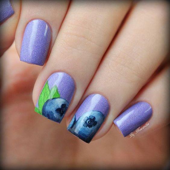Blueberry Nail Art