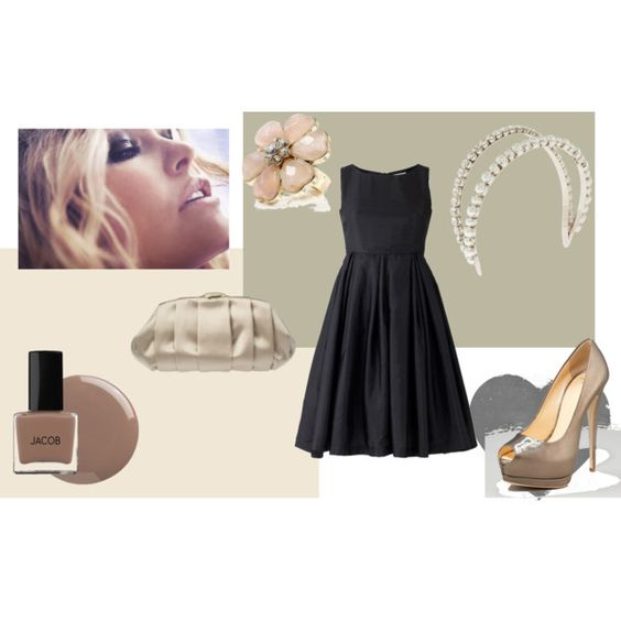Night out, created by #pinupgurlelle on #polyvore. #fashion #style Giuseppe Zanotti Nine West