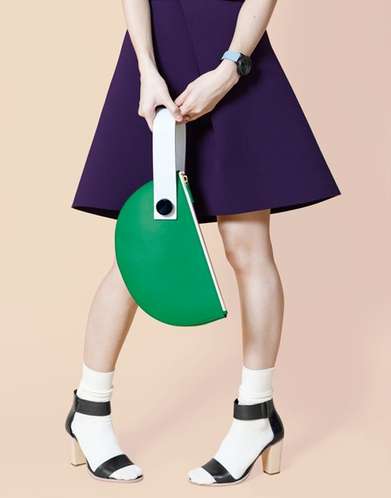 Half Moon Clutch - Green | Matter Matters | NOT JUST A LABEL