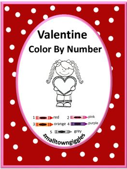 valentine 39 s day color by number no prep worksheets for math centers valentines colors and student. Black Bedroom Furniture Sets. Home Design Ideas