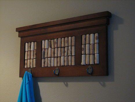 Cork Board Coat Hanger