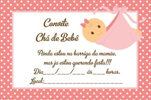 20 Convites Para Cha De Fraldas Ou Bebe Para Imprimir Editaveis