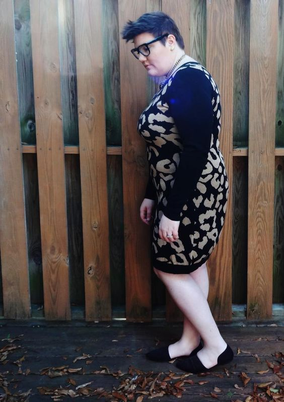 Plus Size Style Blog, Goodbye Hollywood: Snuggly Sweater Dress