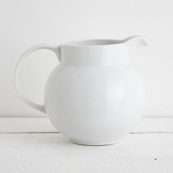 Pascal Round 2.4L Jug - Our generously sized porcelain jug. I have this jug it is so stunning.