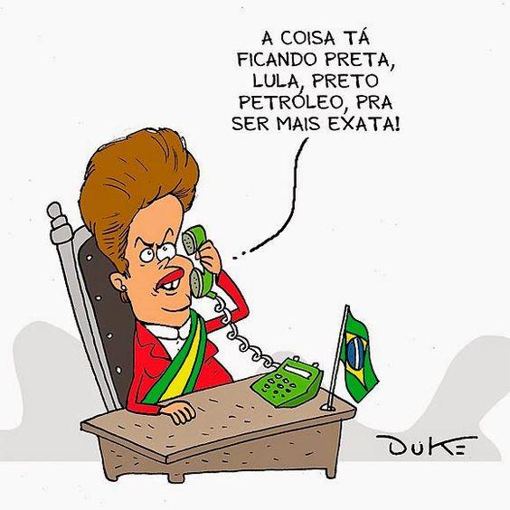 A crise do petróleo é nossa. O Brasil pareceu mais podre do que se imaginava quando ficou mais visível o tamanho da roubança na Petrobras, quando a maior empresa do Brasil se passou ao vexame ruinoso de nem publicar balanço, em novembro de 2014.: