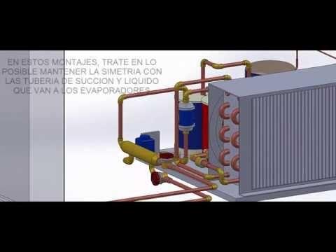 Montaje Cuarto Frio Con Una Unidad Condensadora Y Varias Evaporadores En Un Mismo Recinto 3d Youtube Refrigeracion Y Aire Acondicionado Montaje Frio
