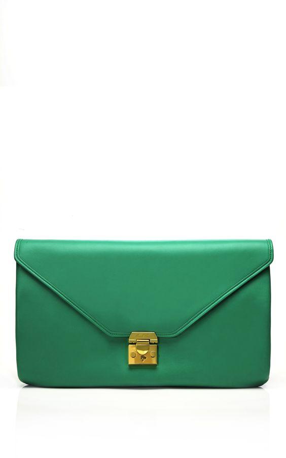 Mark Cross Zelda Large Flap Shoulder Bag in Green at Moda Operandi