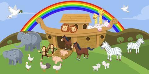 Noah S Ark Rainbow Kids Church Wallpaper Mural Kids Church Rooms
