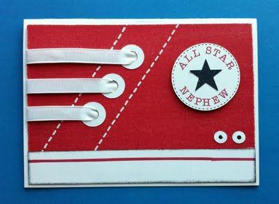 Converse sneaker card - Super cute idea!