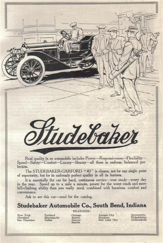 1910 Studebaker Garford 40 Which Referred To The Four Cylinder