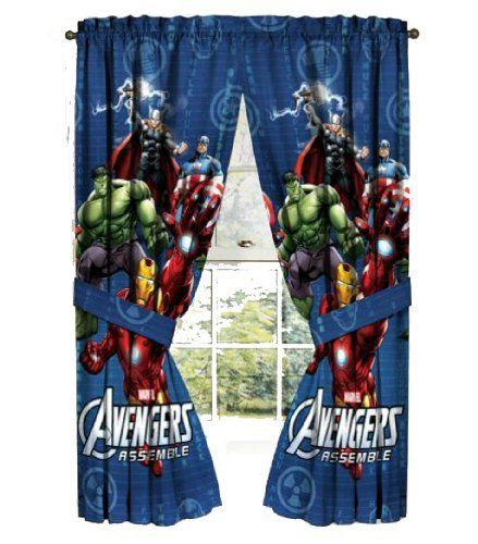 Avengers Curtains Window Panels - Assemble | The Pair Measures 82 ...
