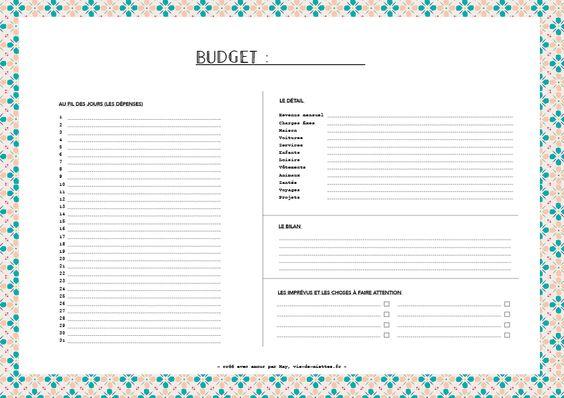 Kit d'organisation (budget, semainier, organisateur mensuel, liste, etc.)