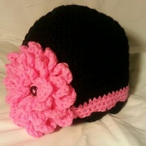 I just discovered this while shopping on Poshmark: Crocheted Flower Beanie. Check it out! Price: $13 Size: OS